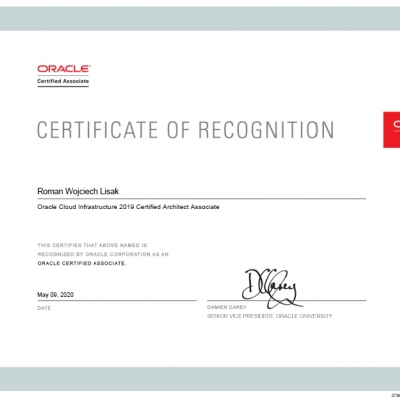 Oracle Cloud Architect Associate